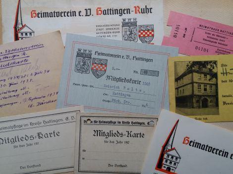 Dokumente aus der Vereinsgeschichte. Foto: LRF/HAT